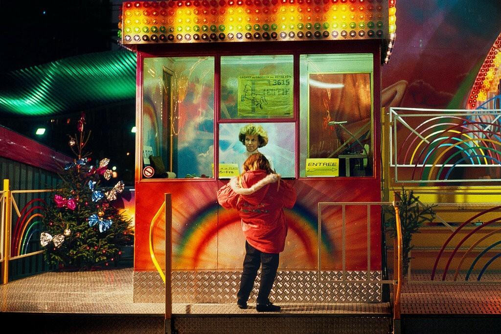 Аттракционы в парке Ла-Виллет, Париж, 1985. Фотограф Гарри Груйер
