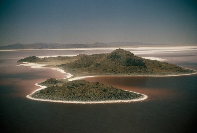 Большое Солёное озеро в штате Юта. Фотограф Пауль Цаль