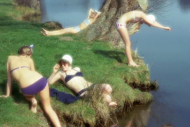 Купальщицы, 1976. Фотограф Джим Ли