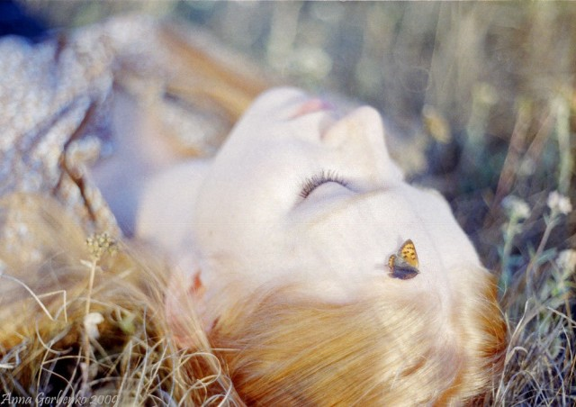 «Бабочка на голове». Фотограф Анна Горбенко