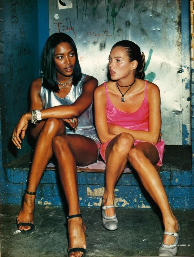 Наоми Кэмпбелл и Кейт Мосс, I-D magazine, 1994. Фотограф Стивен Кляйн