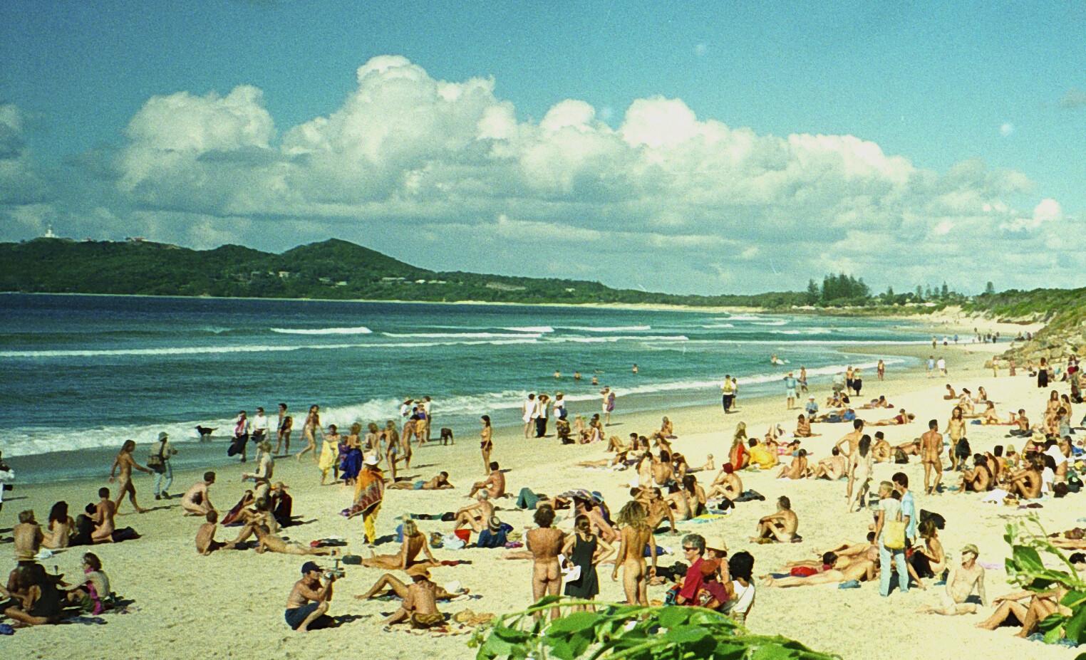 Пляж города Байрон-Бей, Австралия, 1996