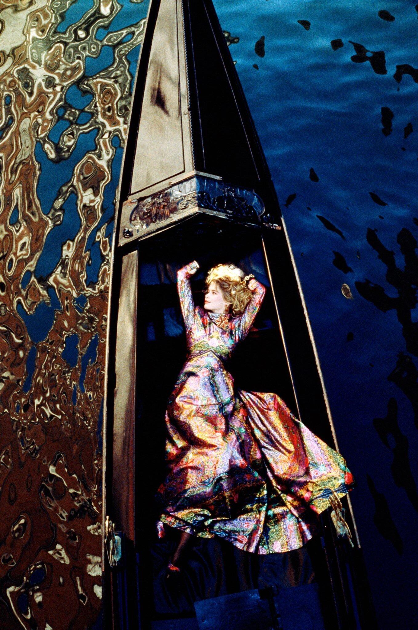 Клаудия Шиффер, Венеция, 1995. Фотограф Жан-Даниэль Лорье