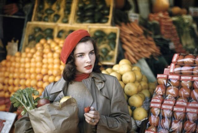 Джеральдина Дент, Нью-Йорк, 1949. Фотограф Рут Оркин