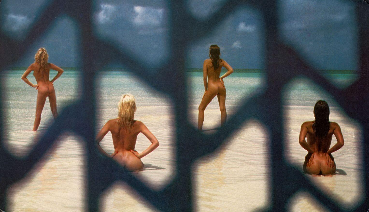 Энджи Лэйн, Сьюзи-Энн Уоткинс, Джей Вуд и Джули Мартин на Багамских островах, 1984. Фотограф Уве Оммер