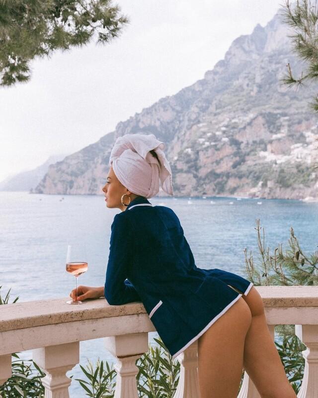 Вид на Позитано из Villa Treville. Фотограф Луи Фрага