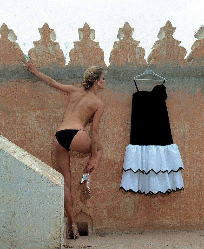 Анна фон Брюссель (Anne Von Brussel) для Vogue Paris. Марракеш, 1988. Фотограф Жан-Даниэль Лорье