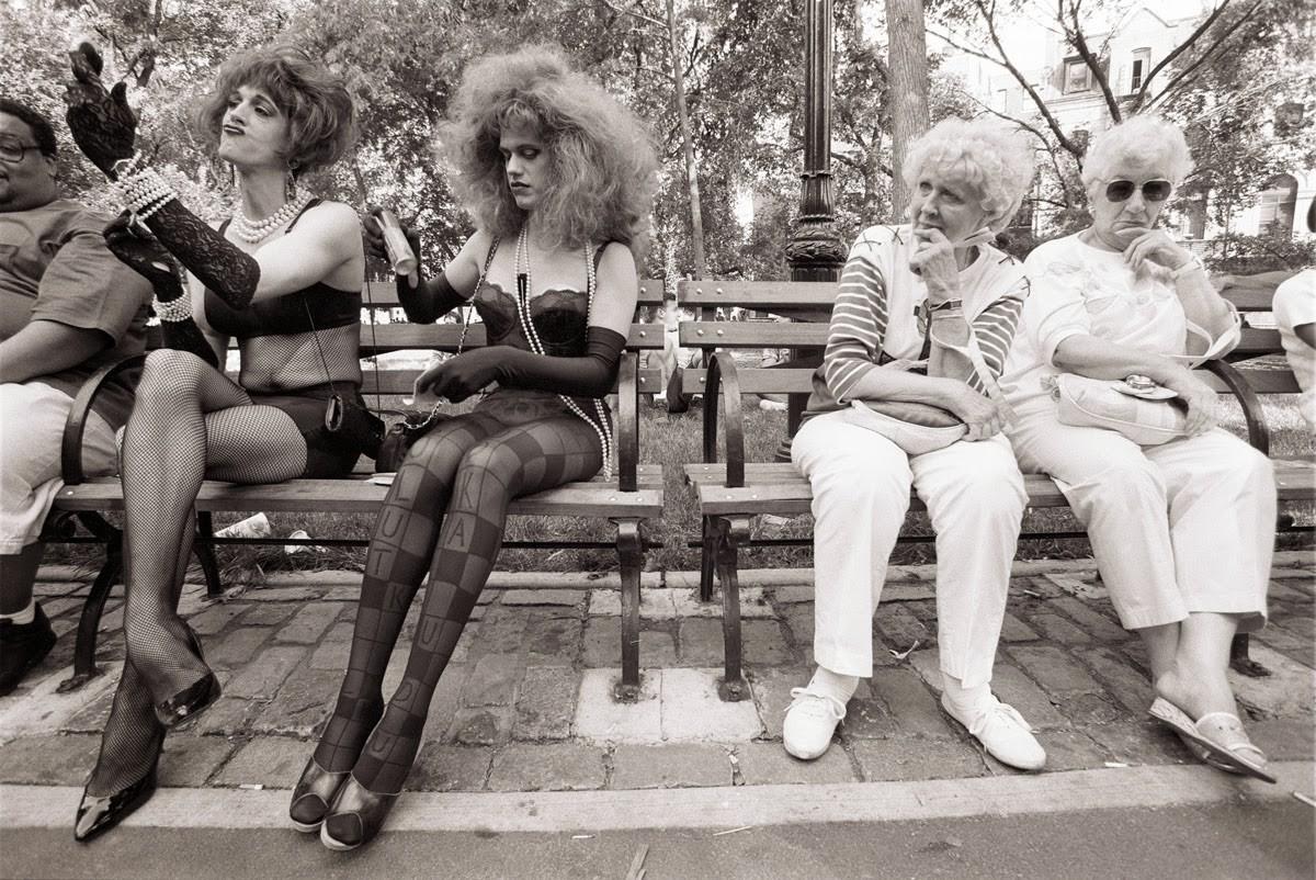 Нью-Йорк, 1980-е. Фотограф Эллиотт Эрвитт