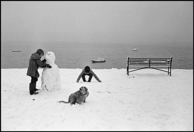 Зима в Уэльсе, 1962. Фотограф Деннис Сток