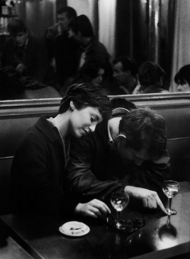 Пара в кафе, Париж, 1960. Фотограф Кристер Стрёмхольм