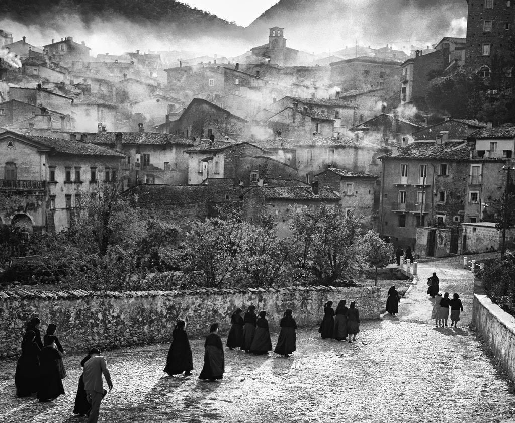 Сканно, Италия, 1950-е. Фотограф Ренцо Тортелли