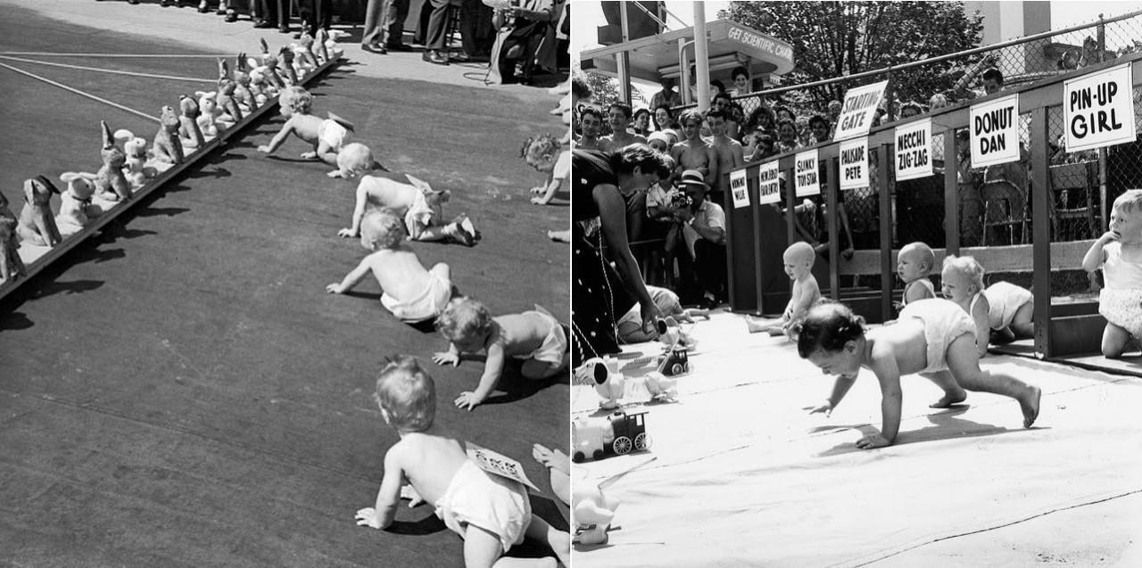 Забеги младенцев. Популярные спортивные состязания в Нью-Джерси с 1946 по 1955 год