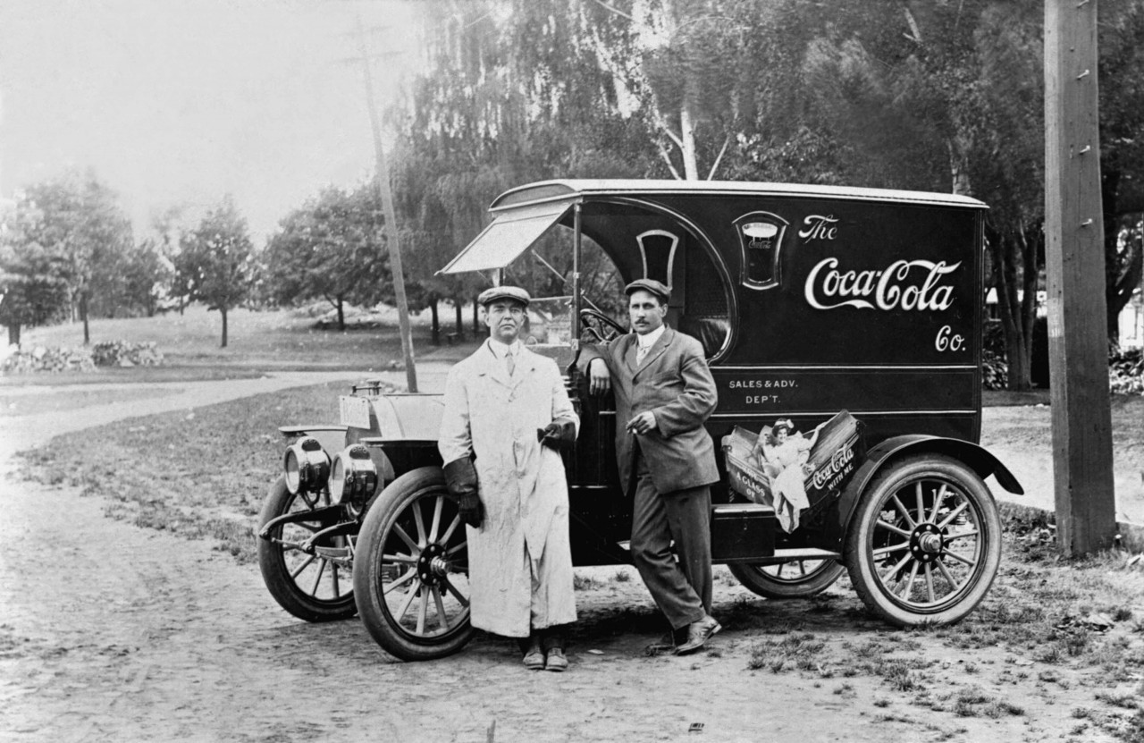Грузовик Coca-Cola в 1910 году