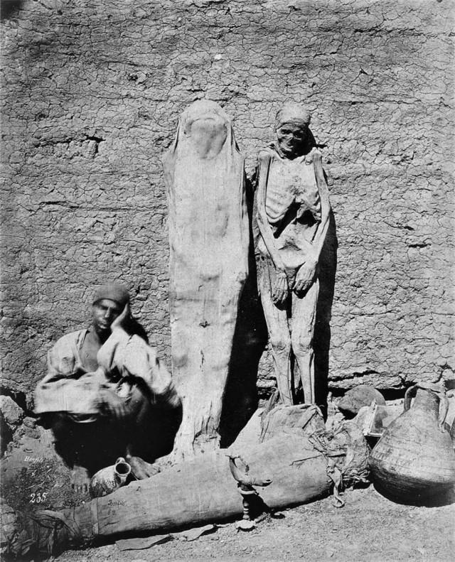 Продавец мумий в Каире, Египет, 1880-е