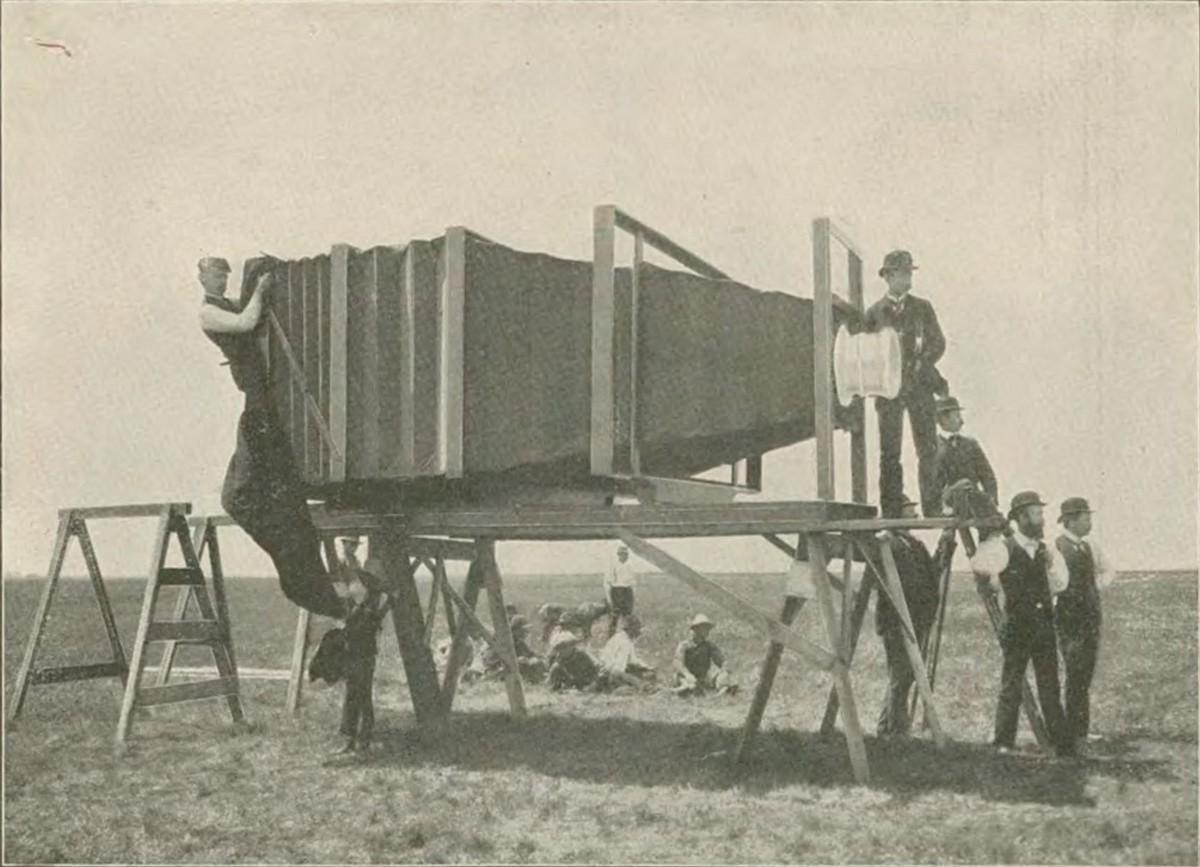 Самая большая фотокамера для съёмки самого красивого поезда, 1900 год