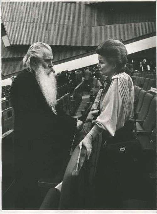 Архиепископ Питирим и космонавт Валентина Терешкова, 1980-е. Фотограф Владимир Лагранж
