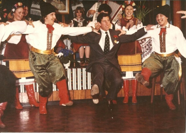Принц Чарльз танцует гопак, 1980-е
