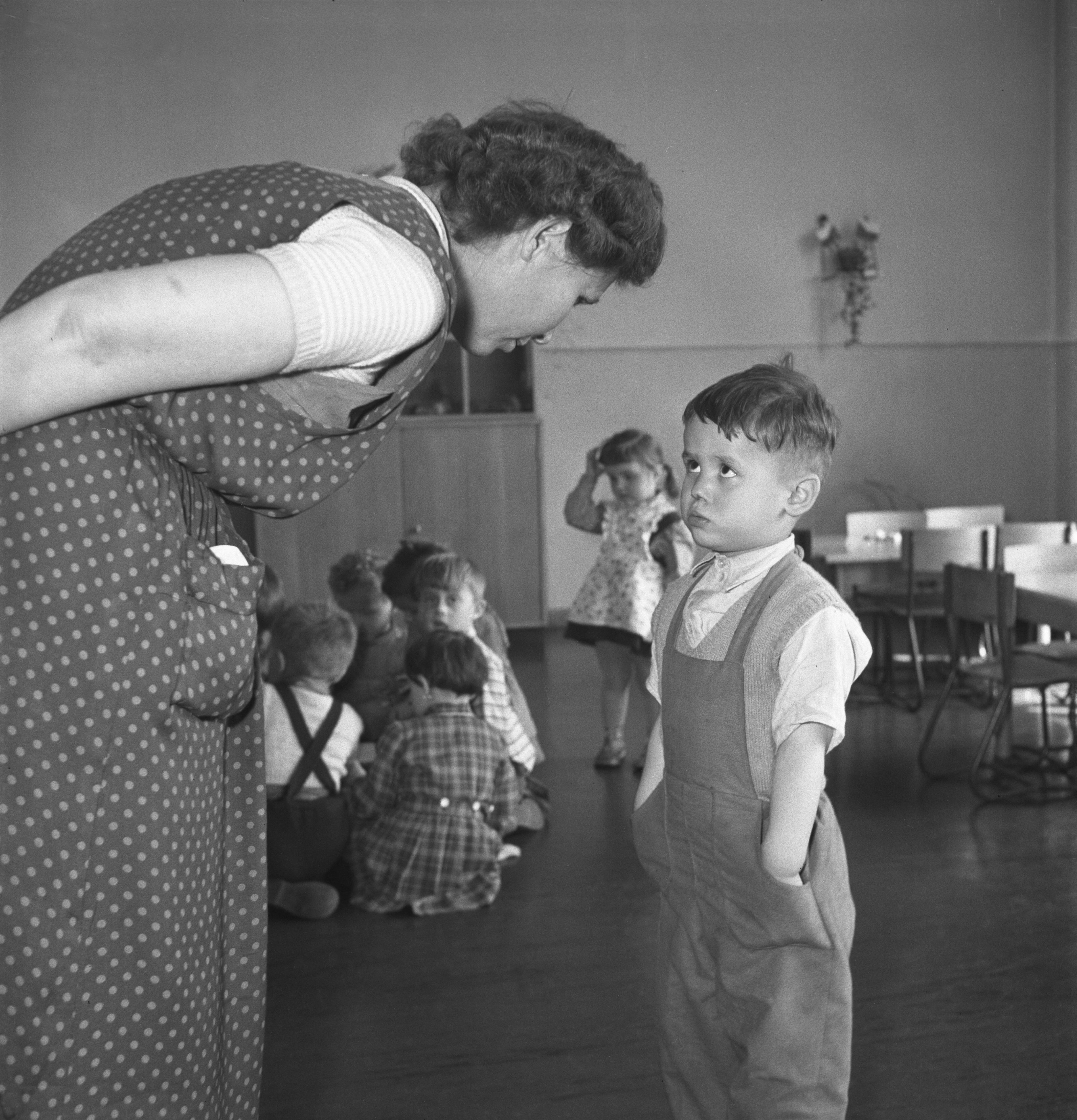 В детском саду, 1958. Фотограф Вилем Кропп