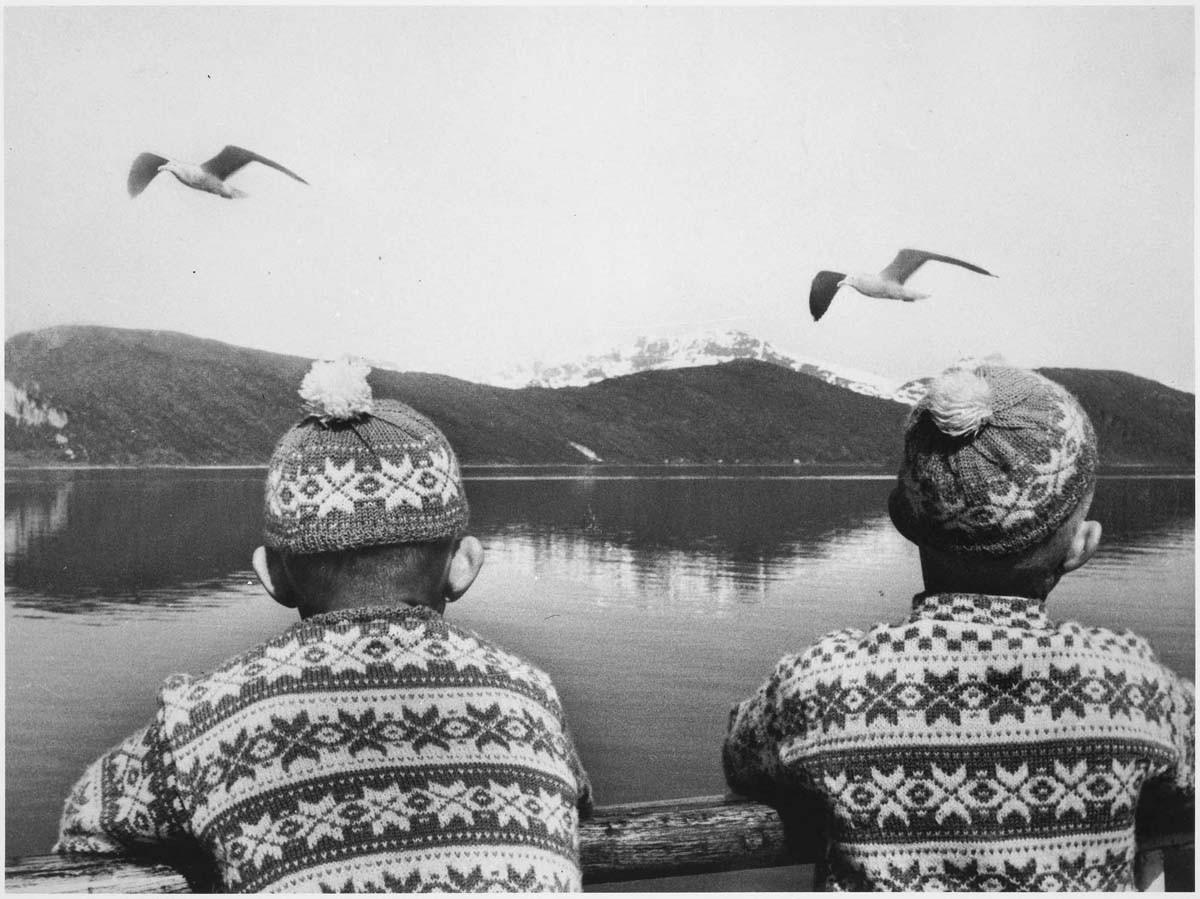 Близнецы, Норвегия, 1955. Фотограф Дениз Коломб