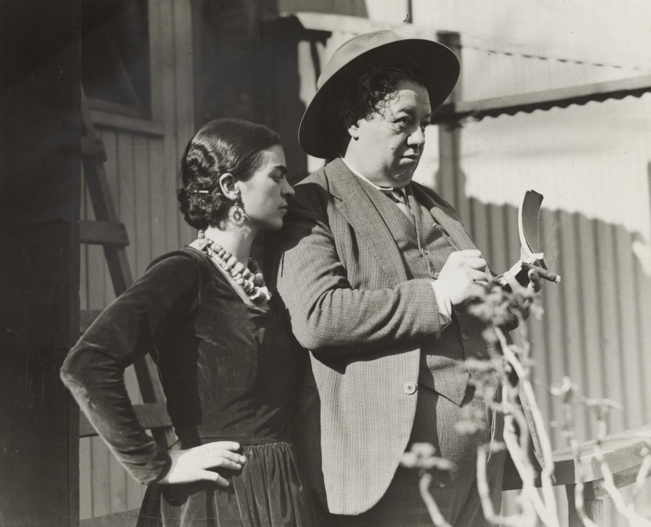 «Мексиканский художник зарисовывает первые впечатления о Сан-Франциско». Фрида Кало и Диего Ривера, 1930