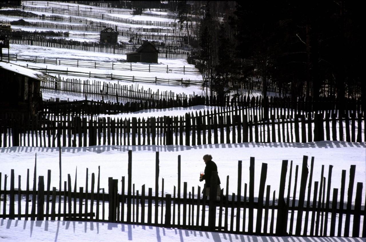 Заборы. СССР, 1963. Фотограф Берт Глинн