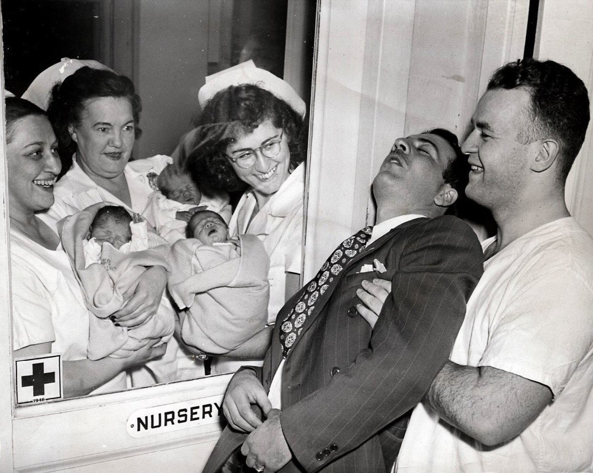 Отец тройняшек. Нью-Йорк, 1946