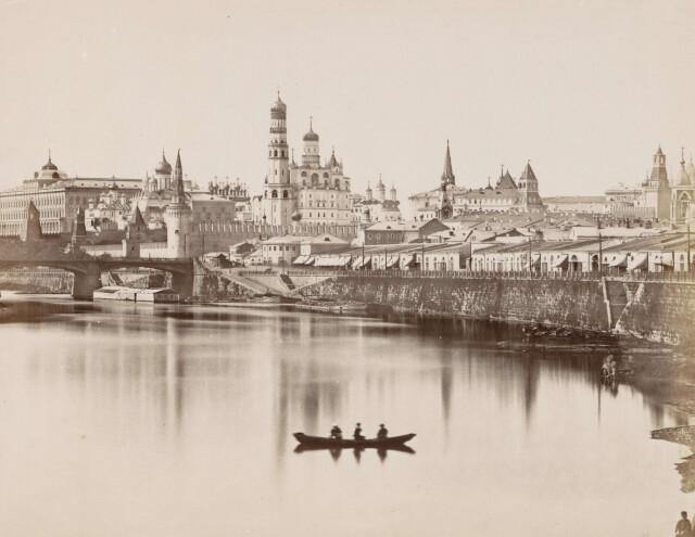 Вид на Московский Кремль, ориентировочно 1850–1876 годы