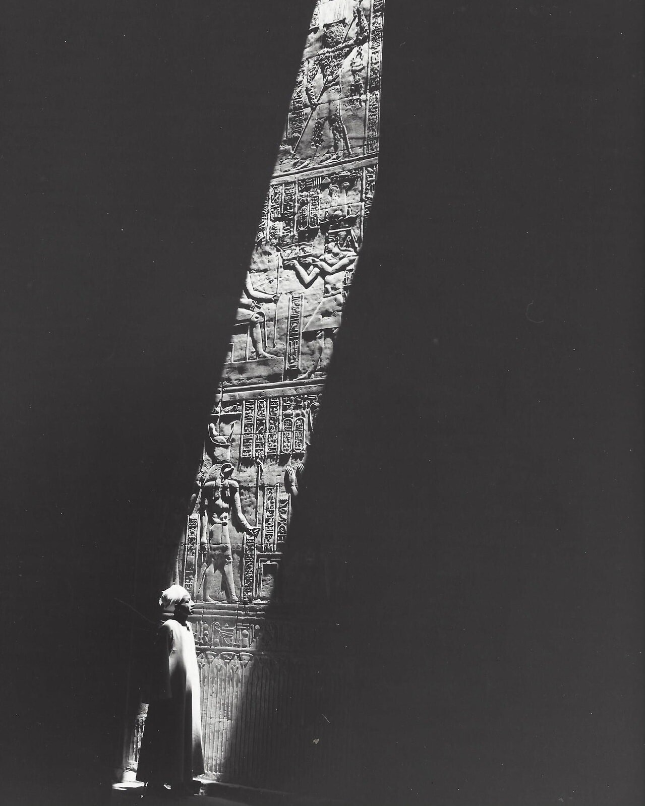 Древнеегипетский рельеф на стене храма, 1968. Фотограф Кис Шерер