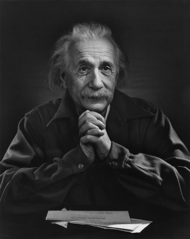 Альберт Эйнштейн, 1948. Автор Юсуф Карш