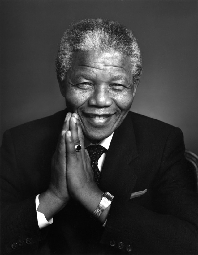 Нельсон Мандела, 1990. Автор Юсуф Карш