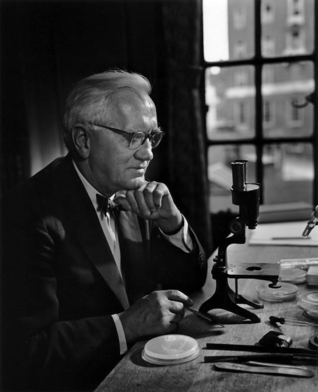 Сэр Александр Флеминг, 1954. Автор Юсуф Карш