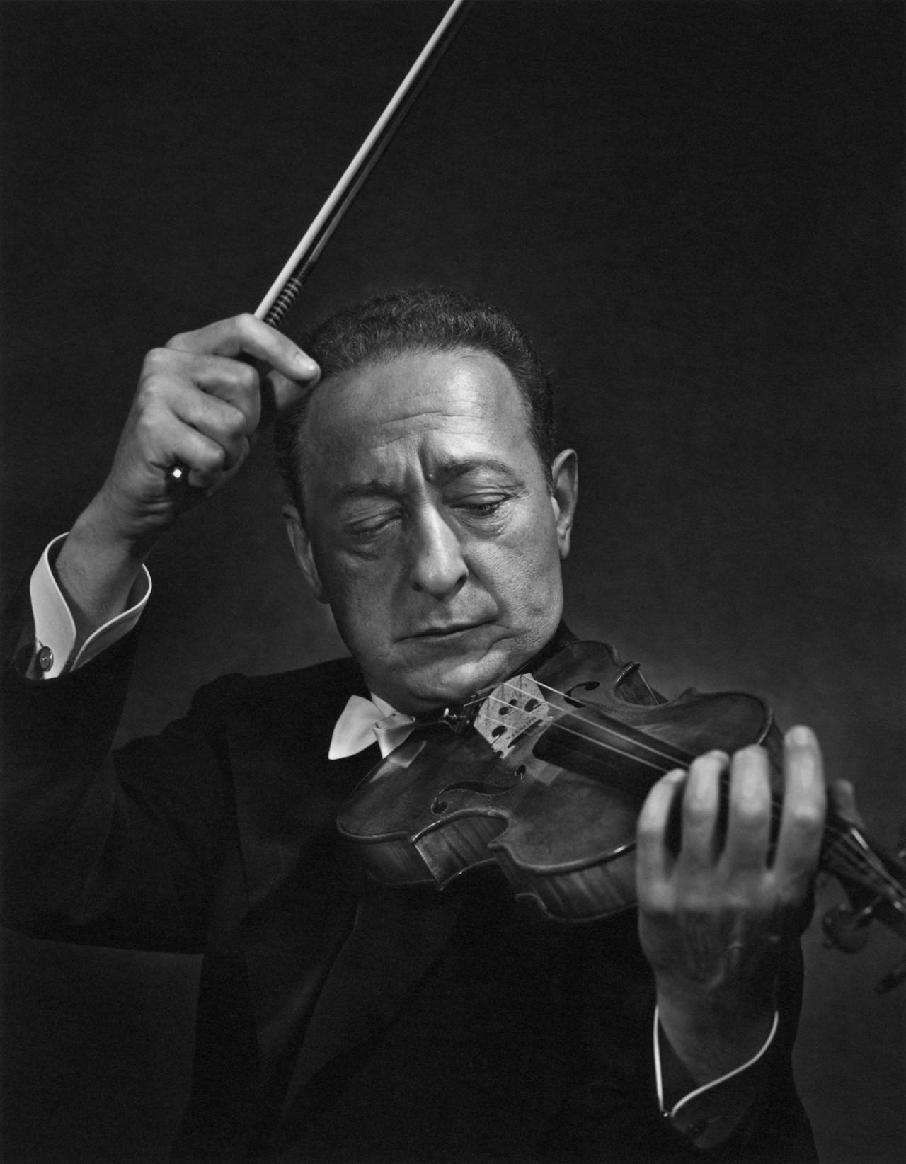 Яша Хейфец, 1950. Автор Юсуф Карш