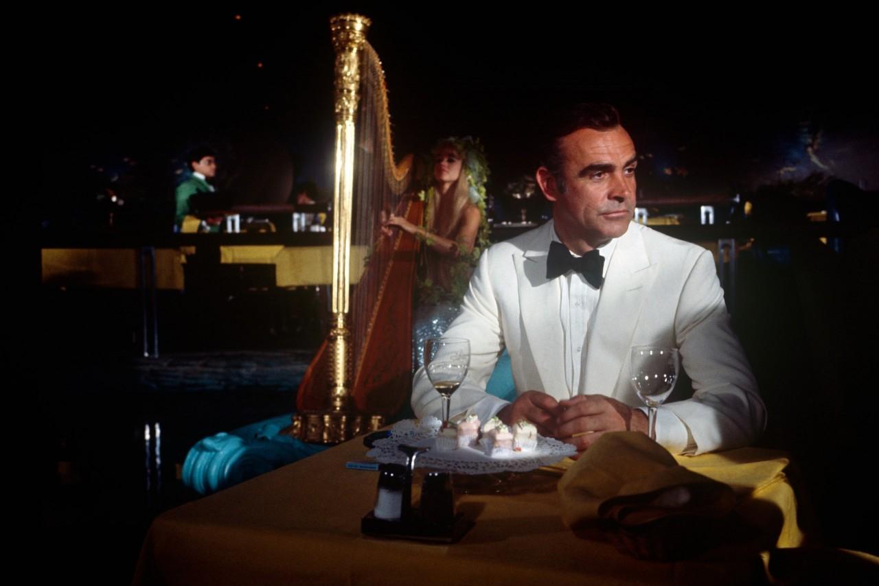 Шон Коннери на съёмках фильма о Джеймсе Бонде «Бриллианты навсегда», 1971