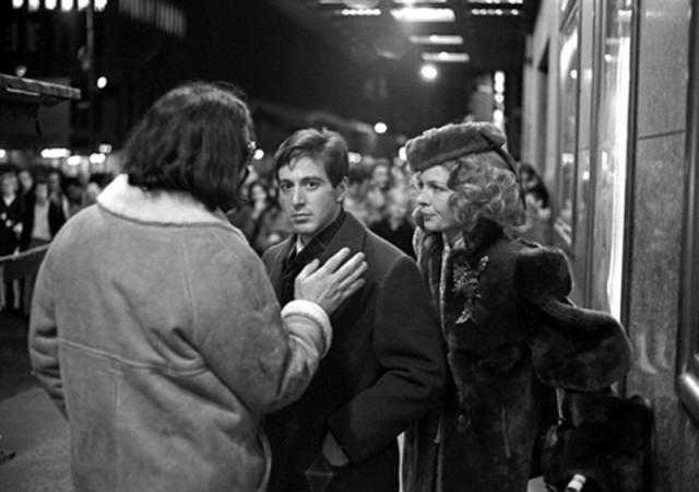 Фрэнсис Форд Коппола, Аль Пачино и Дайан Китон, «Крёстный отец», Нью-Йорк, 1971. Фотограф Гарри Бенсон