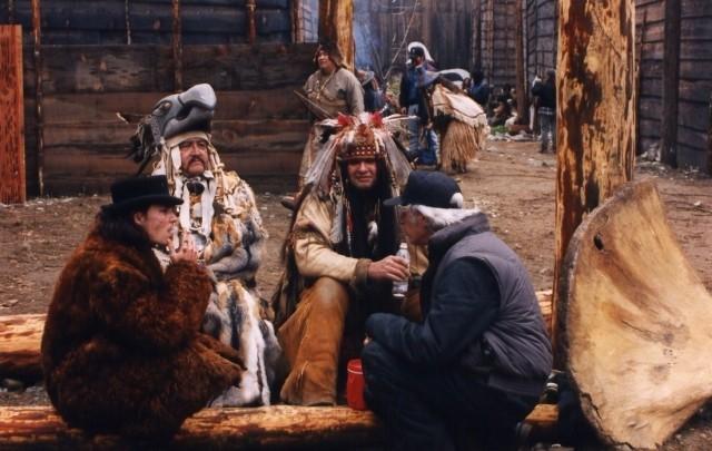 Джонни Депп на съёмках метафизического вестерна Джима Джармуша «Мертвец», 1995