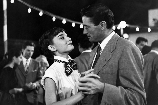 Одри Хепбёрн и Грегори Пек в «Римских каникулах», 1953