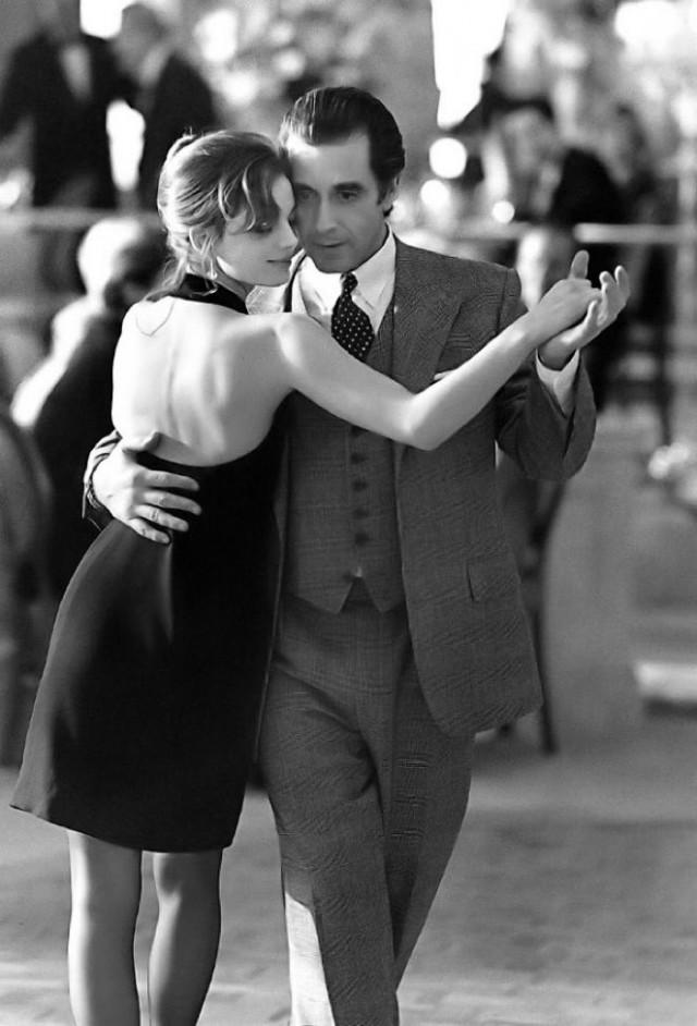 Аль Пачино и Габриэль Анвар на съёмках фильма «Запах женщины», 1992