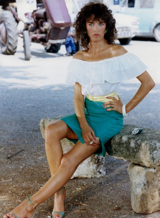 Изабель Аджани на съёмках «Убийственного лета», 1983