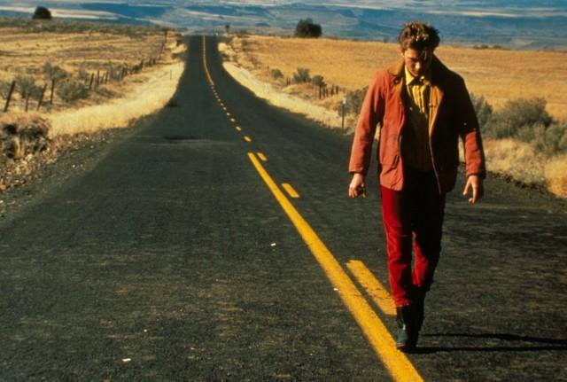 Ривер Феникс на съёмках фильма «Мой личный штат Айдахо», 1991