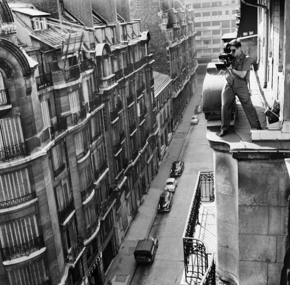Кинооператор Рауль Кутар на съёмках фильма «На последнем дыхании» Жан-Люка Годара, 1960