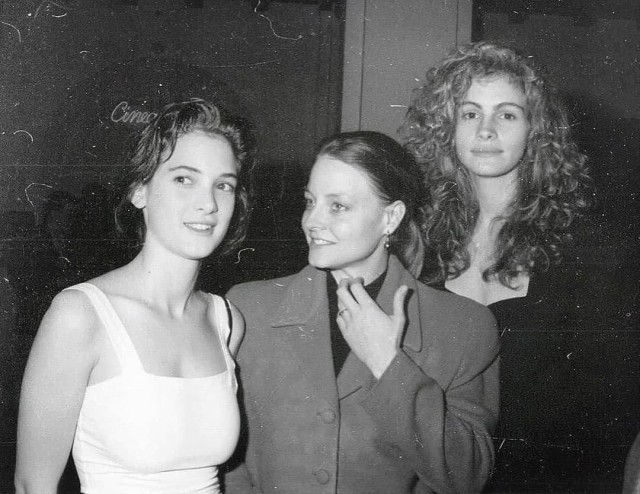 Вайнона Райдер, Джоди Фостер и Джулия Робертс, 1989