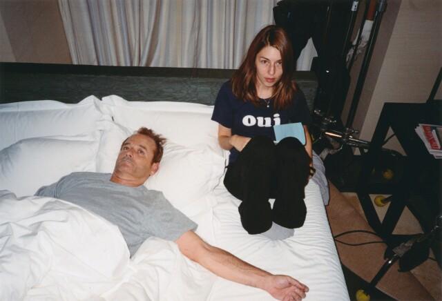 Билл Мюррей и София Коппола на съёмках фильма «Трудности перевода», 2003