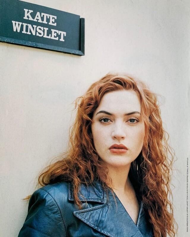 Кейт Уинслет на киностудии Шепертон, 1996. Фотограф Джейк Чессам