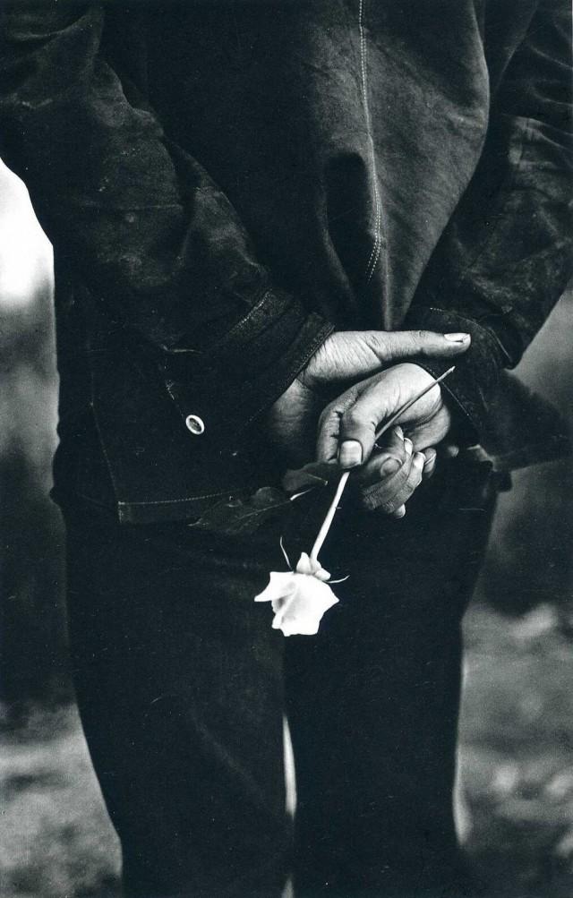 Человек с розой, Сан-Франциско, 1960-е. Фотограф Ральф Гибсон