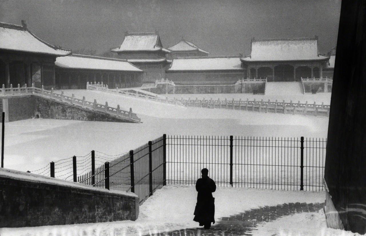 Запретный город в снегу. Пекин, 1957. Фотограф Марк Рибу