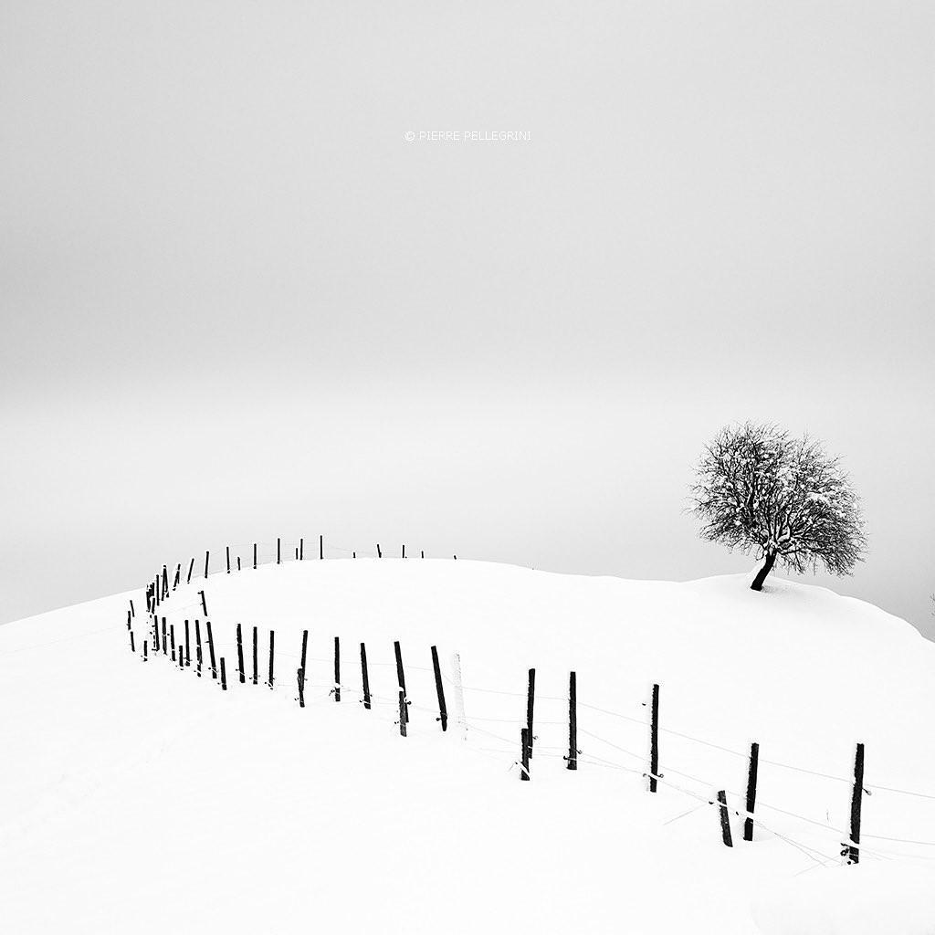 Зимний пейзаж, Швейцария. Фотограф Пьер Пеллегрини