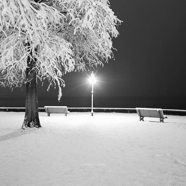 Зимний минимализм, Швейцария. Фотограф Пьер Пеллегрини