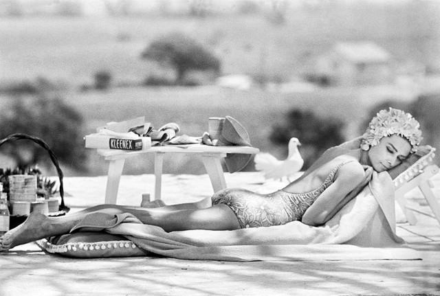 Одри Хепбёрн, юг Франции, 1966. Фотограф Терри О'Нилл