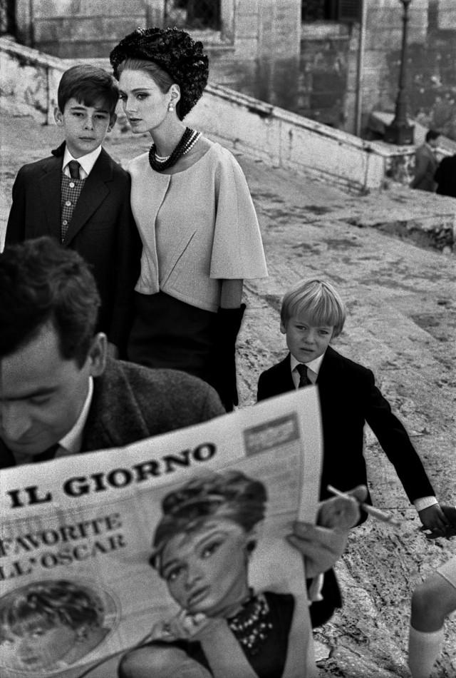 Для Harper's Bazaar, Рим, Италия, 1962. Фотограф Франк Хорват