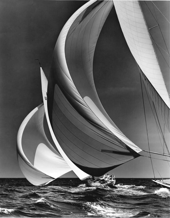 12-метровые яхты в проливе Лонг-Айленд, 1938. Фотограф Моррис Розенфельд